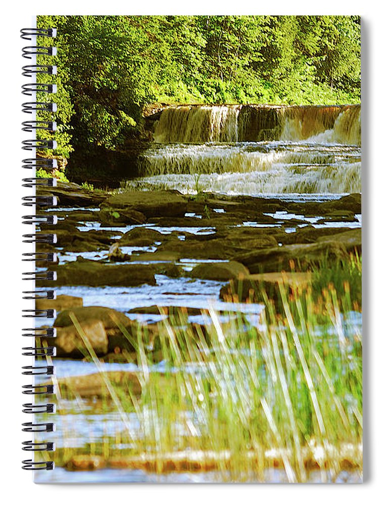 Tahquamenon Spiral Notebook featuring the photograph Lower Tahquamenon Falls 6128 by Michael Peychich