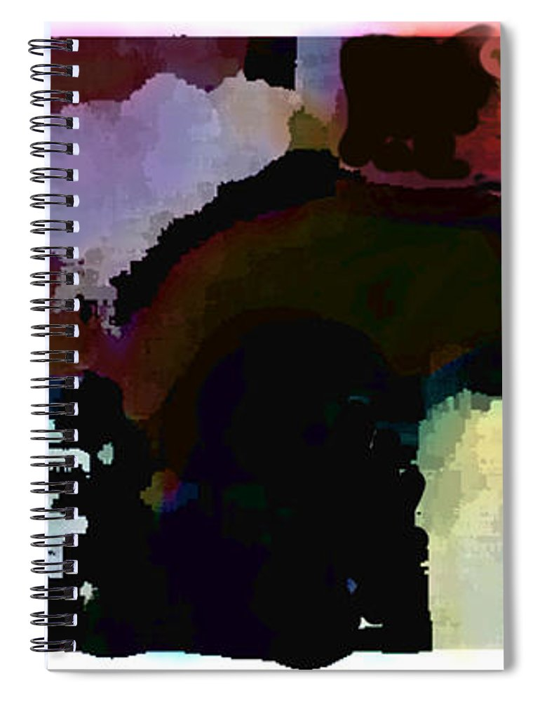 Abstract Expressionism Spiral Notebook featuring the painting Lunch Counter by Steve Karol