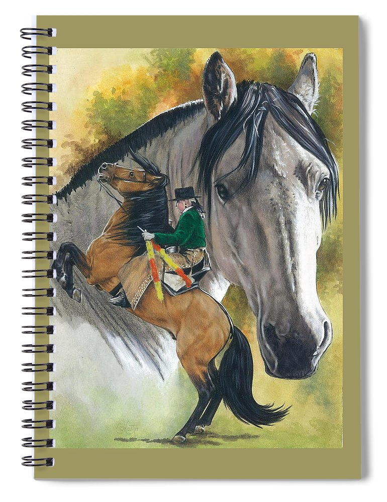 Hoof Stock Spiral Notebook featuring the mixed media Lusitano by Barbara Keith