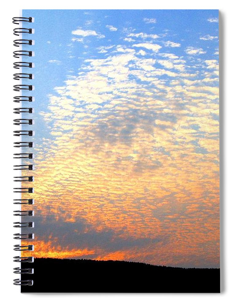 Mackerel Sky Spiral Notebook featuring the photograph Mackerel Sky by Will Borden