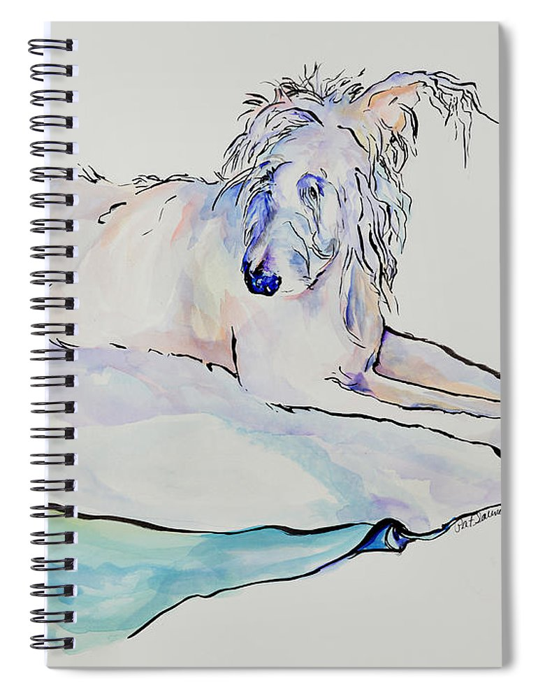 Animal Portrait Spiral Notebook featuring the painting Maevis by Pat Saunders-White