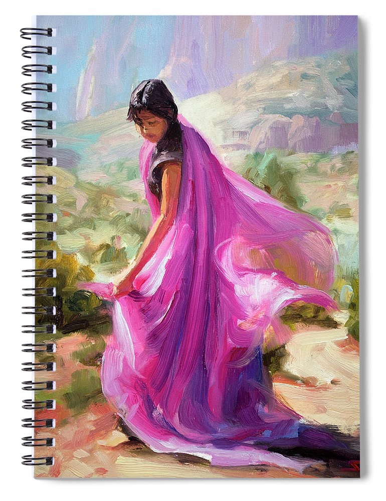 Southwest Spiral Notebook featuring the painting Magenta In Zion by Steve Henderson