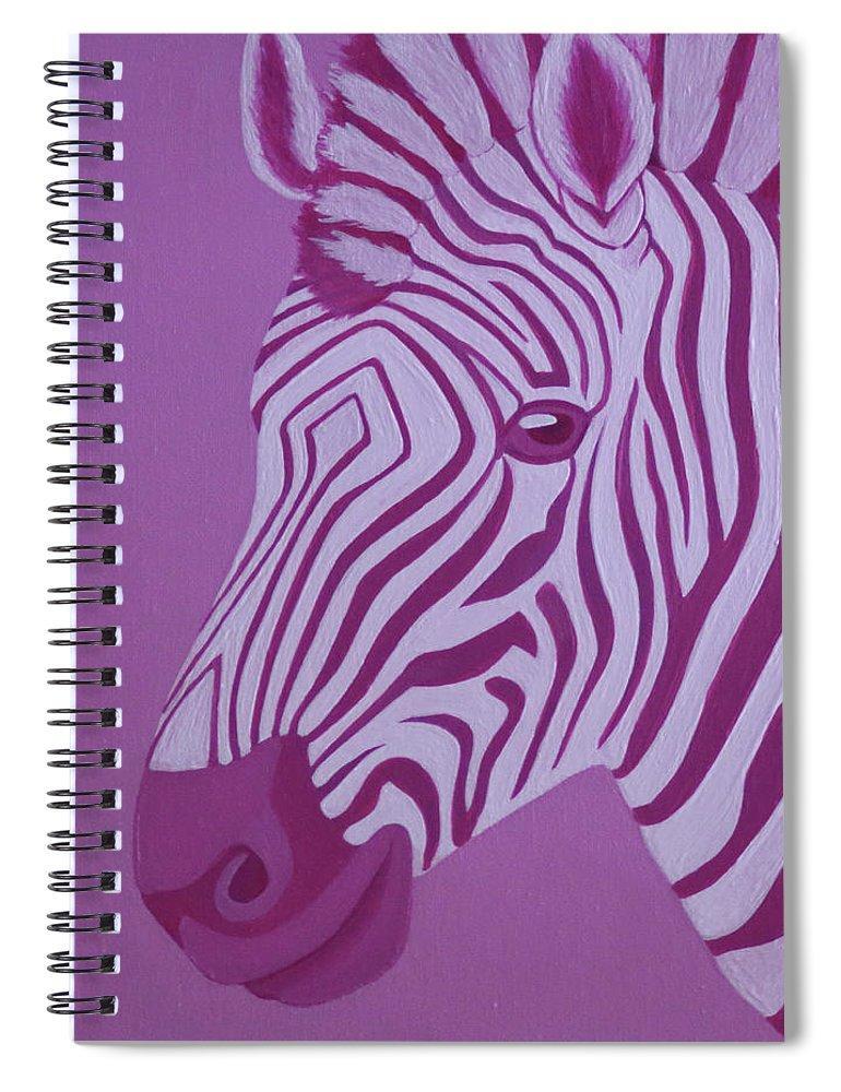 Magenta Zebra Spiral Notebook