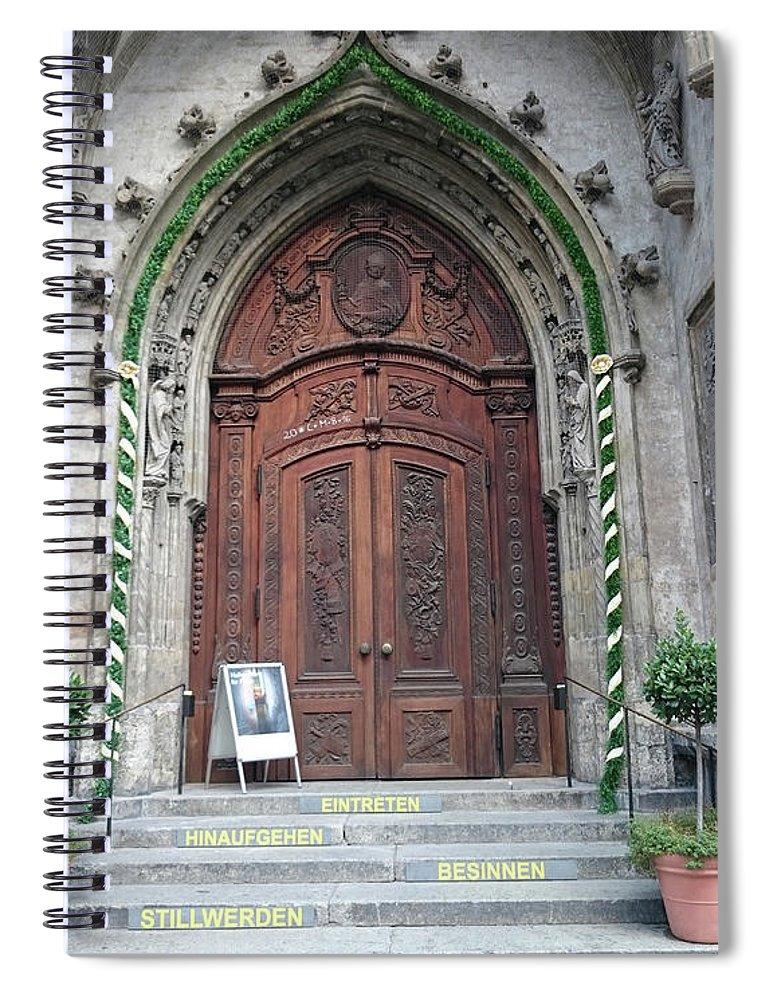 Magestic Door Spiral Notebook featuring the photograph Majestic door by Heidi Sieber