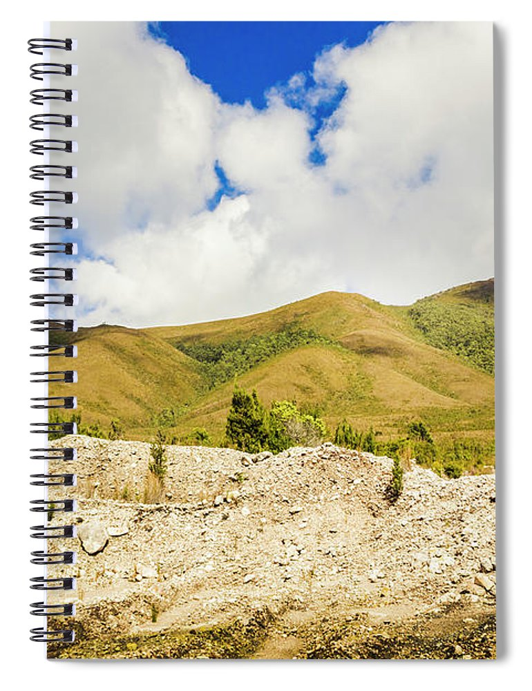 Tasmania Spiral Notebook featuring the photograph Majestic Rugged Australia Landscape by Jorgo Photography - Wall Art Gallery