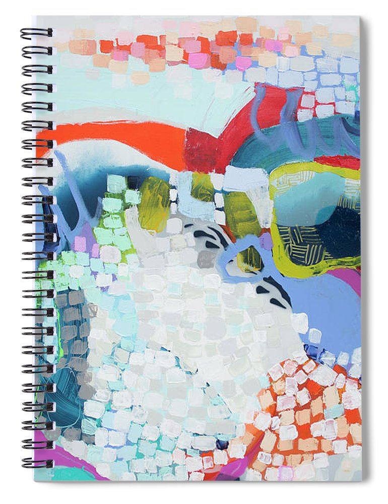 Abstract Spiral Notebook featuring the painting Make Some Noise by Claire Desjardins