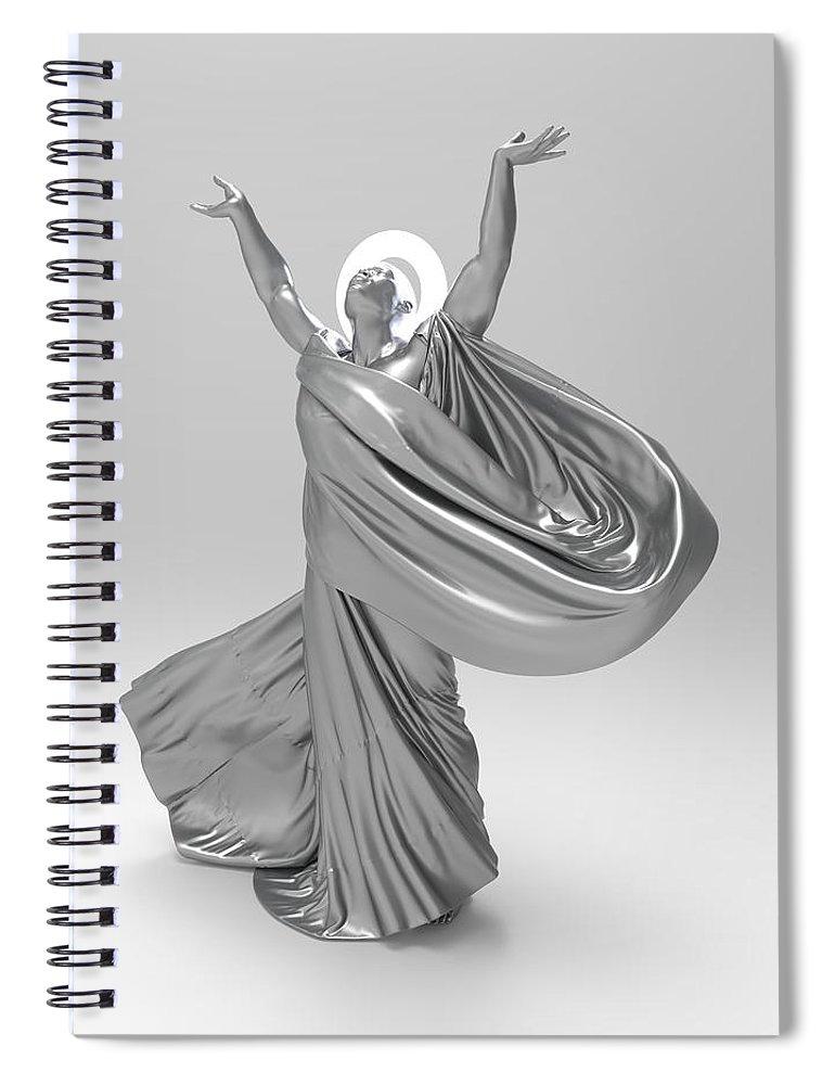 Sculpture Spiral Notebook featuring the digital art Male Lamp Number Eighteen by Joaquin Abella