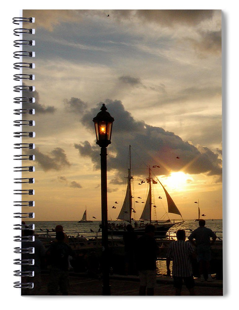 Photography Spiral Notebook featuring the photograph Mallory Square Key West by Susanne Van Hulst