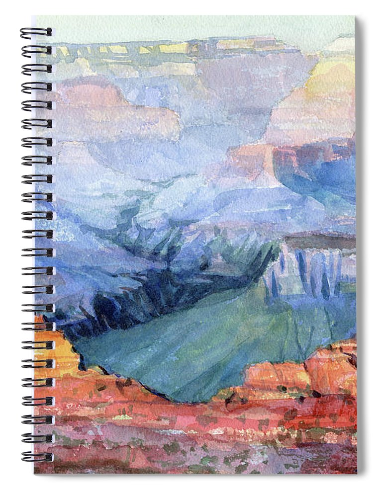 Grand Canyon Spiral Notebook featuring the painting Many Hues by Steve Henderson