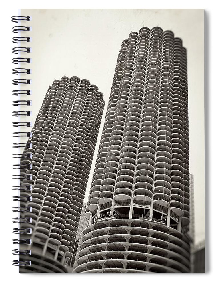 City Spiral Notebook featuring the photograph Marina City - Chicago by Michelle Calkins