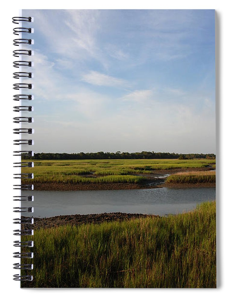 Photography Spiral Notebook featuring the photograph Marsh Scene Charleston Sc by Susanne Van Hulst