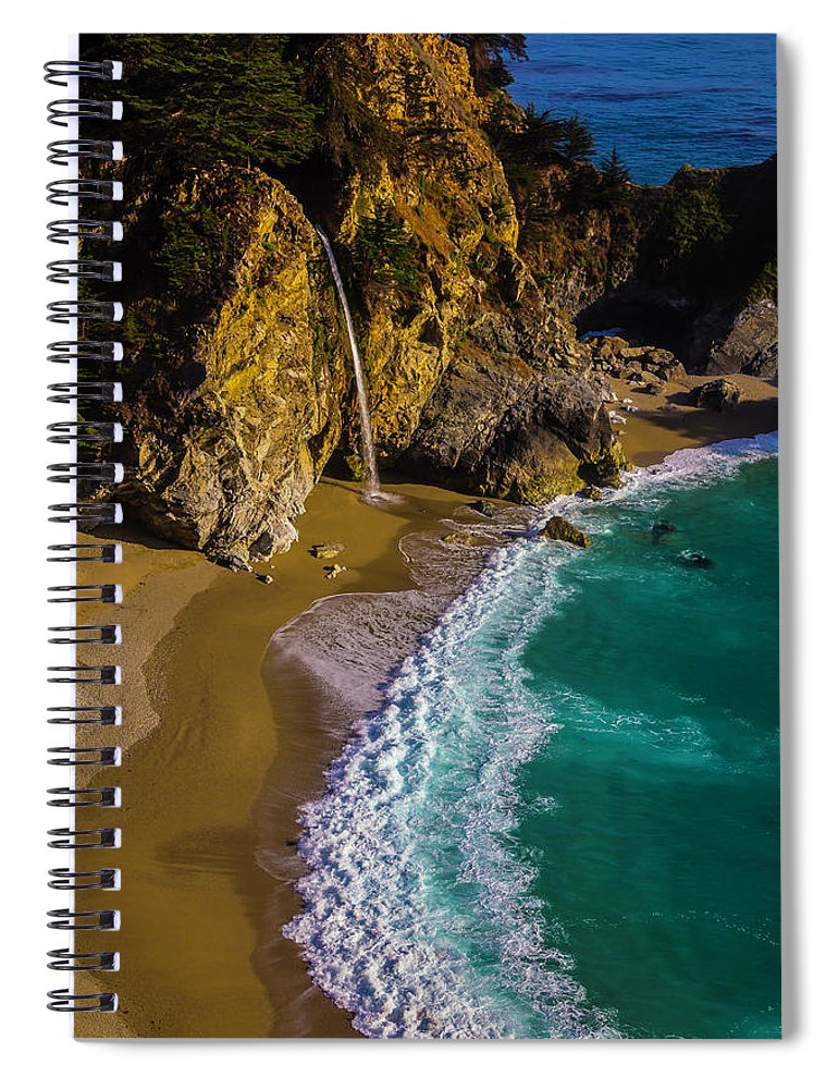 Big Sur California Spiral Notebook featuring the photograph Mcway Cove Beach by Garry Gay