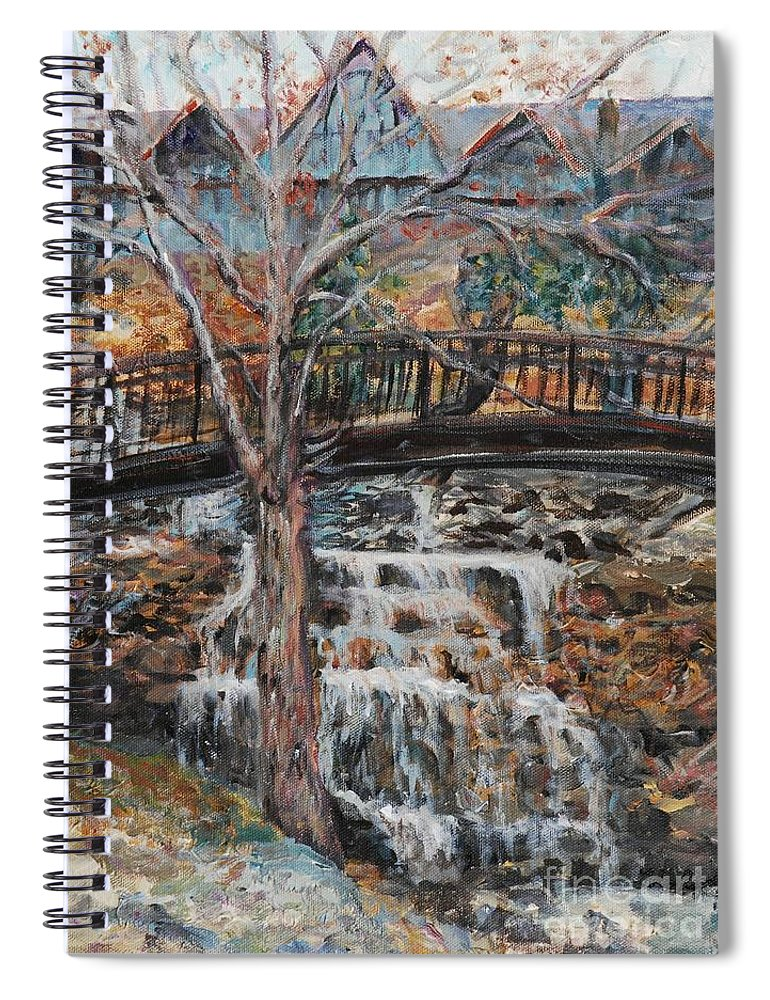 Waterfalls Spiral Notebook featuring the painting Memories by Nadine Rippelmeyer