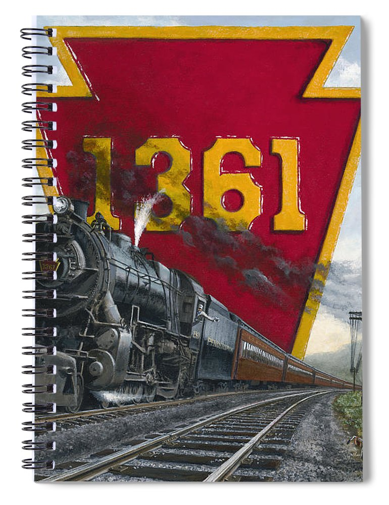 Trains Spiral Notebook featuring the painting Memories Relived by David Mittner
