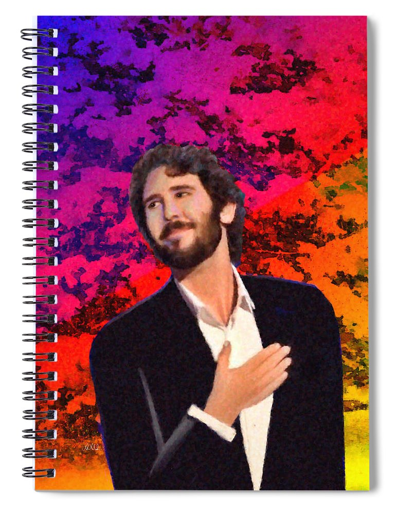 Merry Christmas Josh Groban Spiral Notebook for Sale by Angela Stanton