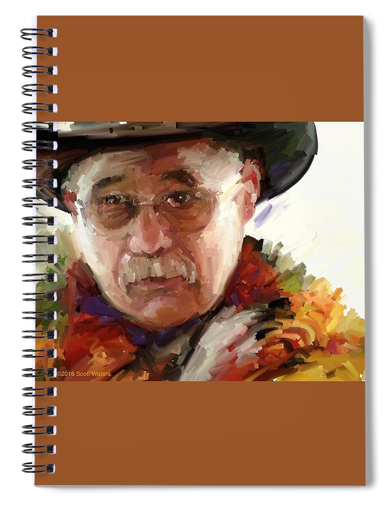 Spiral Notebook featuring the digital art Merton by Scott Waters