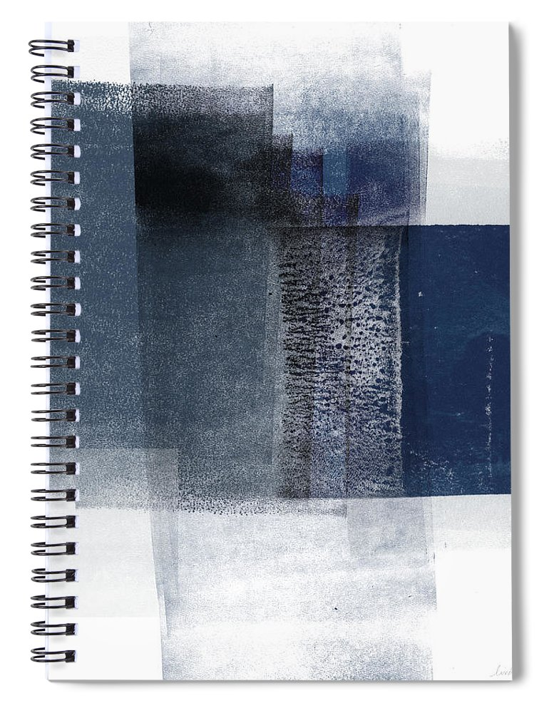 Blue Spiral Notebook featuring the mixed media Mestro 2- Abstract Art By Linda Woods by Linda Woods