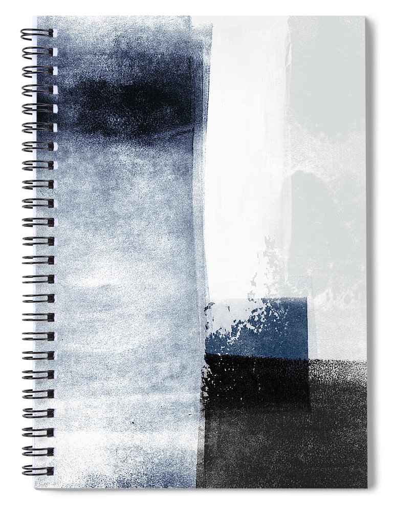 Blue Spiral Notebook featuring the mixed media Mestro 3- Abstract Art by Linda Woods by Linda Woods