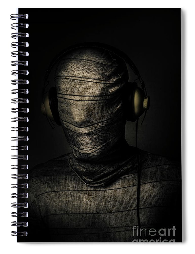 Death Spiral Notebook featuring the photograph Metal Monster Mummy by Jorgo Photography - Wall Art Gallery