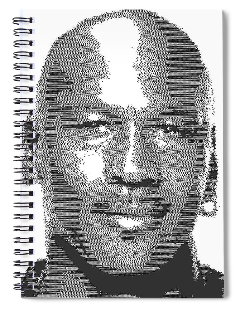 8e5fbdc46874d5 Michael Jordan - Cross Hatching Spiral Notebook for Sale by Samuel Majcen