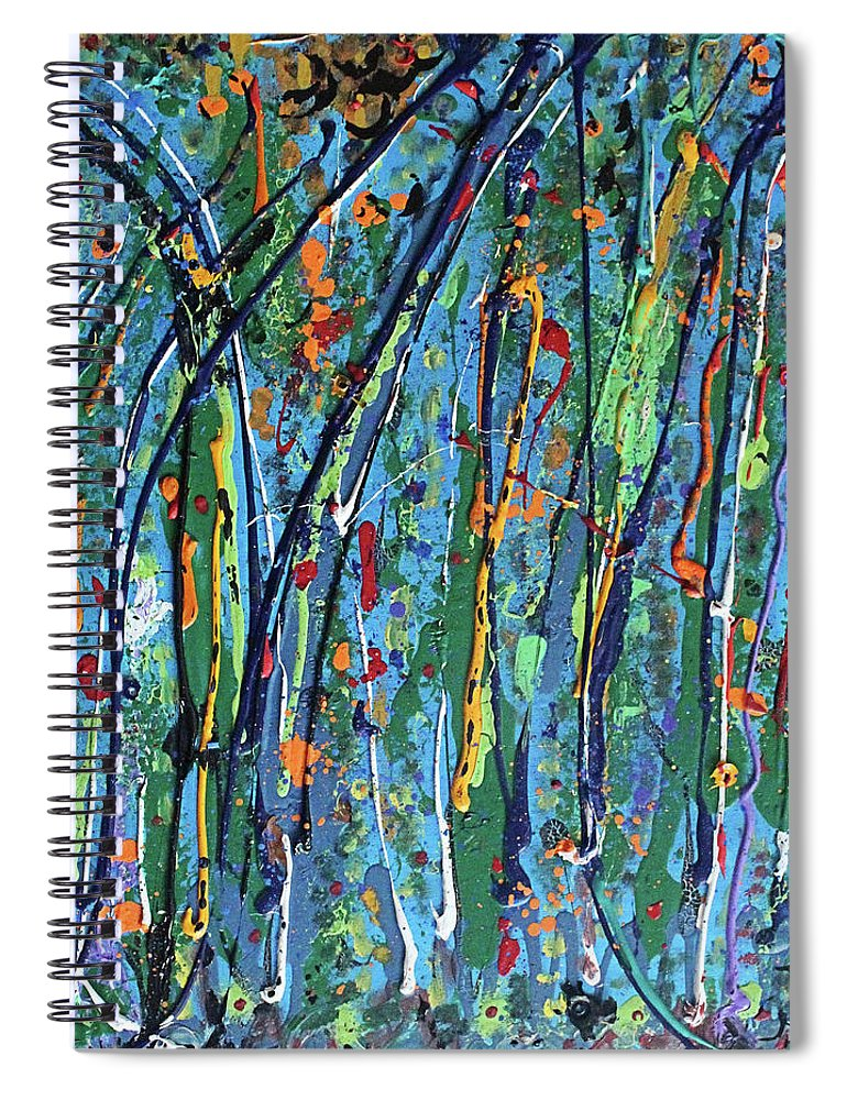 Bright Spiral Notebook featuring the painting Mid-Summer Night's Dream by Pam Roth O'Mara