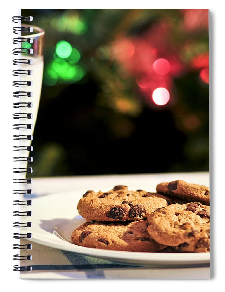 Milk And Cookies For Santa Spiral Notebook