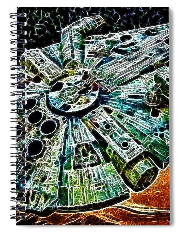 Han Solo Spiral Notebook featuring the photograph Millenium Falcon by Paul Ward
