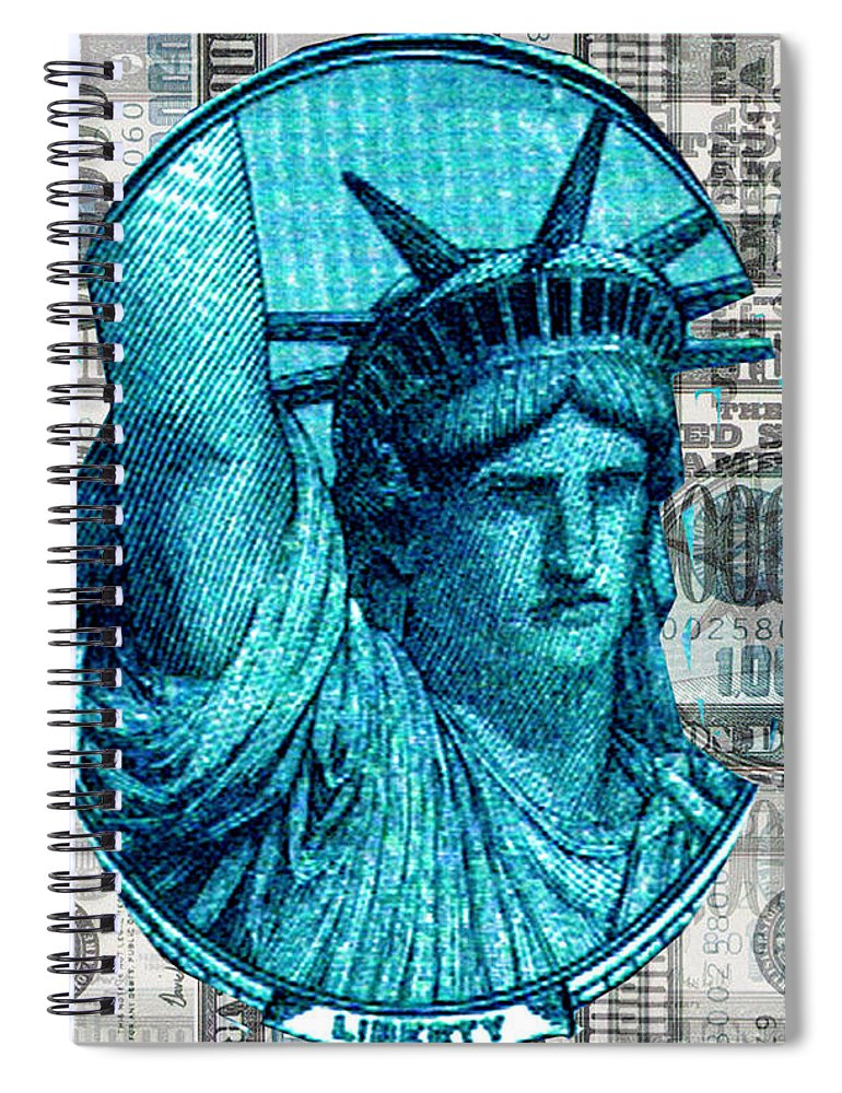 Millions Spiral Notebook featuring the digital art Million Dollar Pile by Seth Weaver