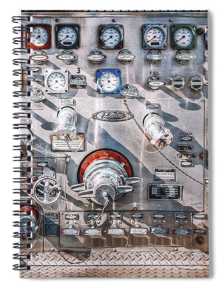 Fire Truck Spiral Notebook featuring the photograph Milwaukee Fire Department Engine 27 by Scott Norris