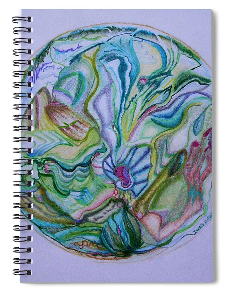 Abstract Spiral Notebook featuring the drawing Mind Mandala by Suzanne Udell Levinger