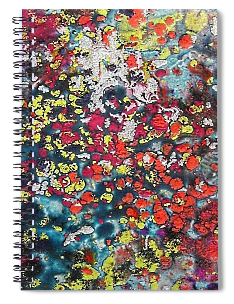 Mini Roses Spiral Notebook featuring the painting Mini Roses by Dragica Micki Fortuna