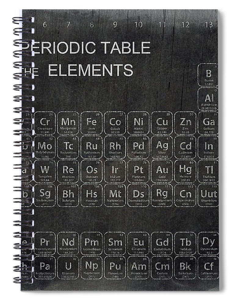 Minimalist Periodic Table Spiral Notebook