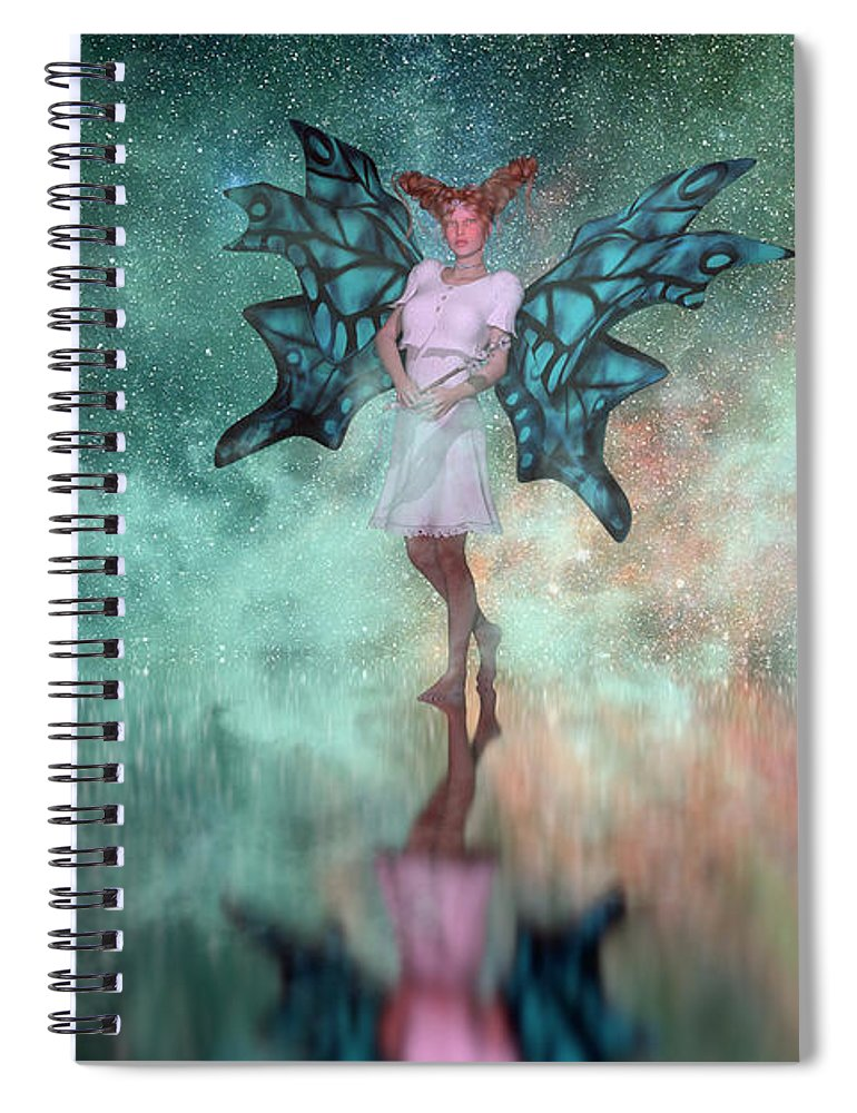 Fairy Spiral Notebook featuring the digital art Mirage by Betsy Knapp