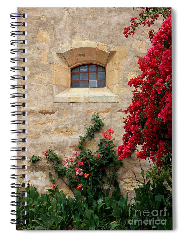 Window Spiral Notebook featuring the photograph Mission Window by Carol Groenen