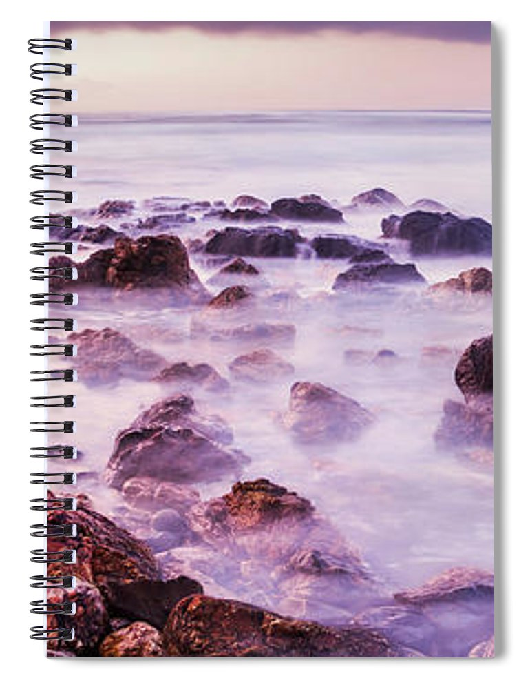 Coastline Spiral Notebook featuring the photograph Misty Bay by Jorgo Photography - Wall Art Gallery