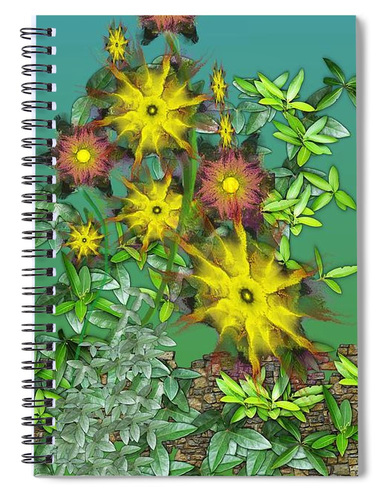 Flowers Spiral Notebook featuring the digital art Mixed Flowers by David Lane