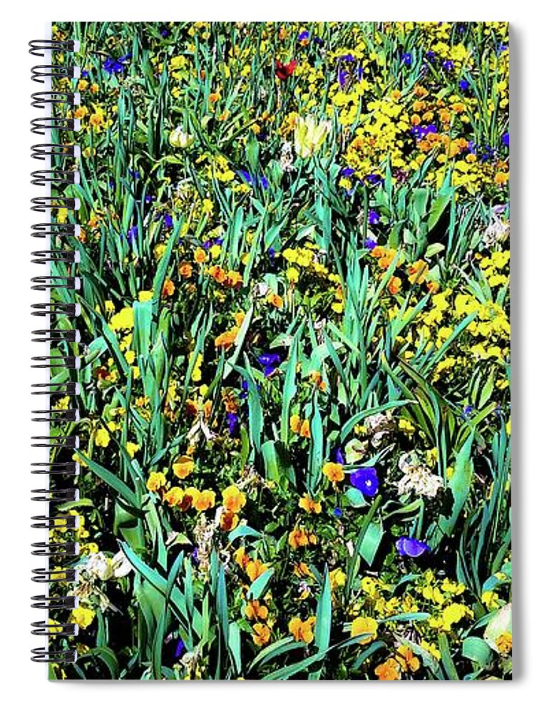 Wildflowers Spiral Notebook featuring the photograph Mixed Wildflowers In Texas by D Davila