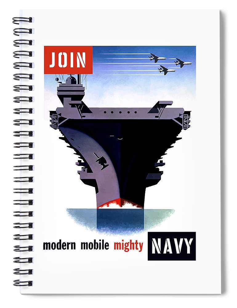 Ww2 Spiral Notebook featuring the painting Modern Mobile Mighty Navy by War Is Hell Store