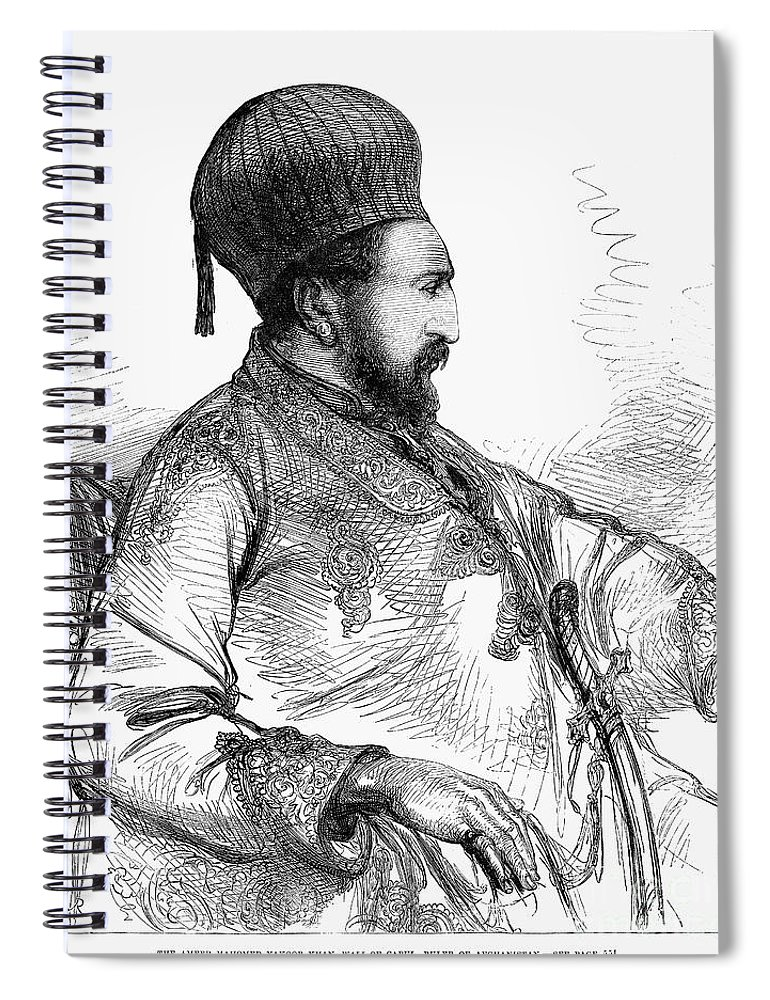 1879 Spiral Notebook featuring the photograph Mohammed Yakub Khan by Granger
