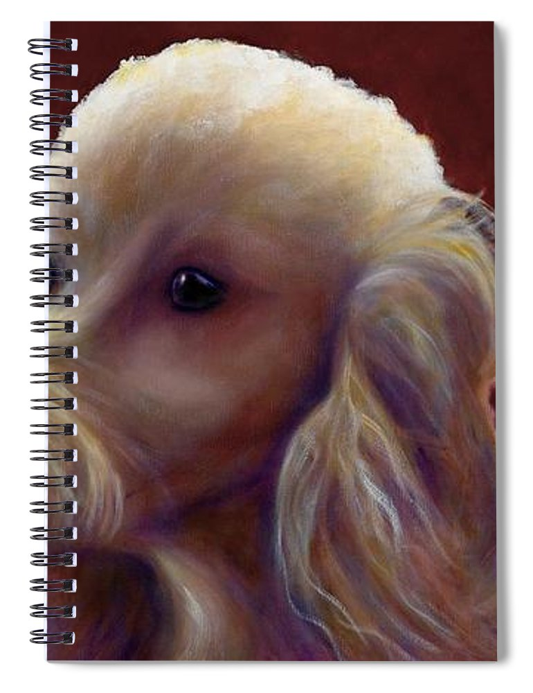 Dogs Spiral Notebook featuring the painting Molly Charlie and Abby by Shannon Grissom