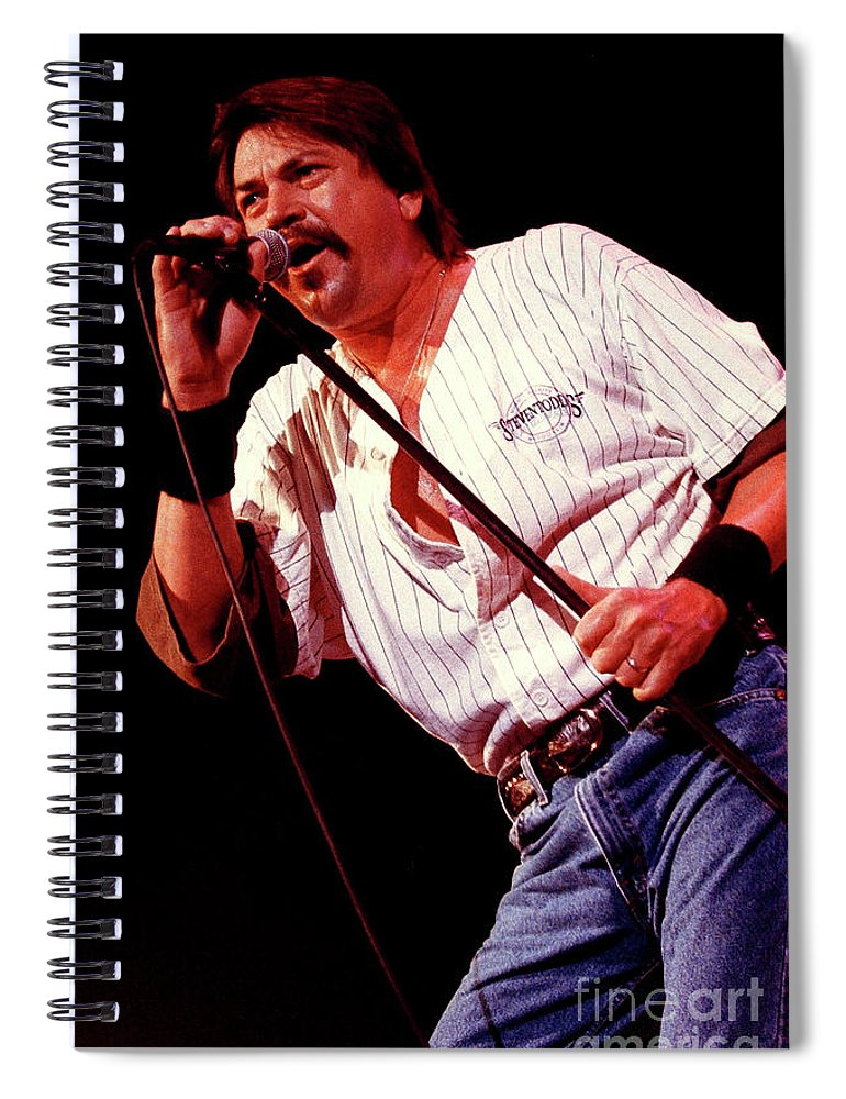 Molly Hatchet Spiral Notebook featuring the photograph Molly Hatchet-93-danny-3700 by Gary Gingrich Galleries
