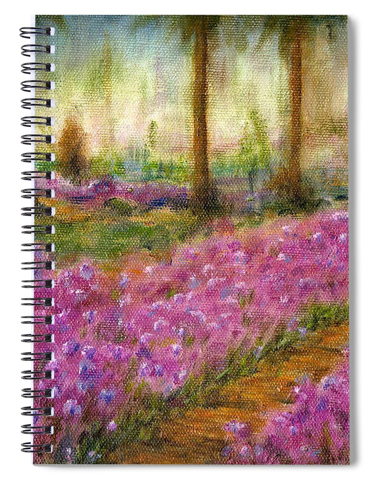 Monet Spiral Notebook featuring the painting Monet's Garden in Cannes by Jerome Stumphauzer