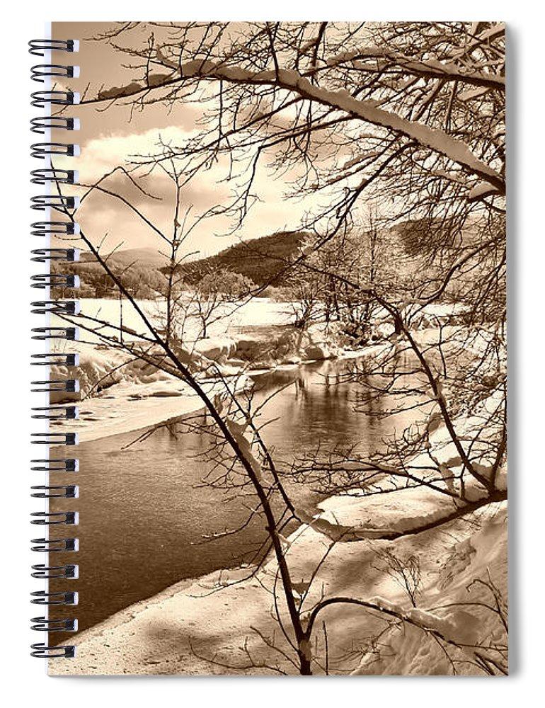 Brook Spiral Notebook featuring the photograph Mood Of Winter by Deborah Benoit