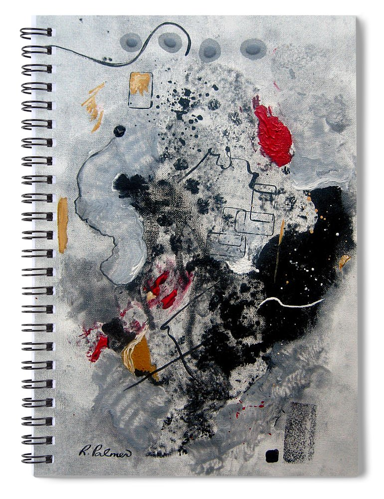 Abstract Spiral Notebook featuring the painting Moods II by Ruth Palmer