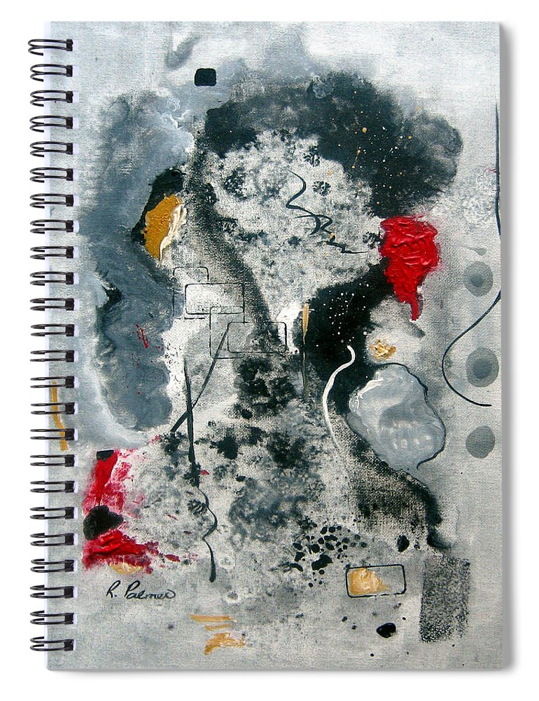 Abstract Spiral Notebook featuring the painting Moods by Ruth Palmer