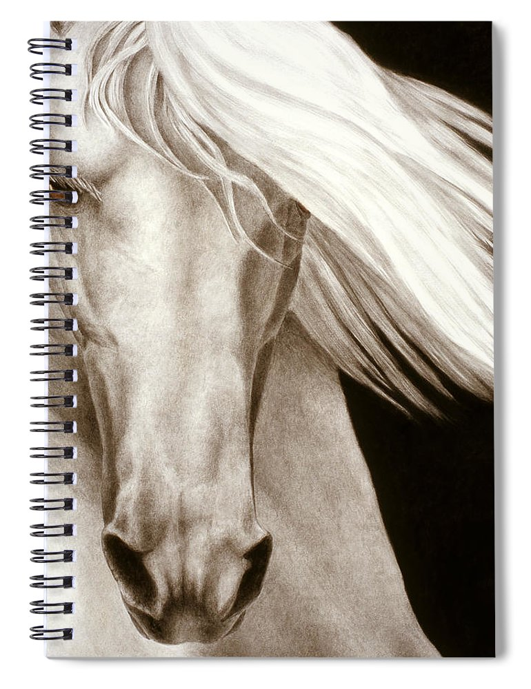 Horse Spiral Notebook featuring the painting Moonrise by Pat Erickson