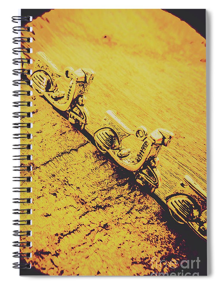 Urban Spiral Notebook featuring the photograph Moped Parking Lot by Jorgo Photography - Wall Art Gallery