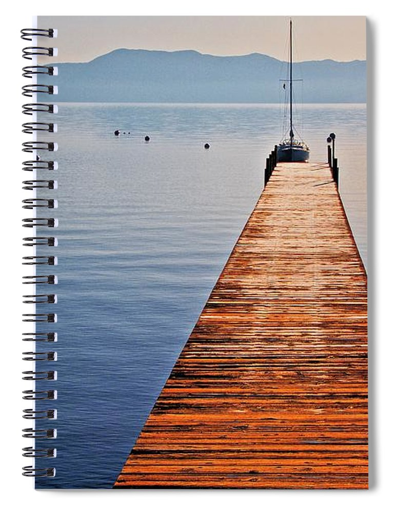 Nature Spiral Notebook featuring the photograph Morning Frost, Lake Tahoe, California by Zayne Diamond Photographic