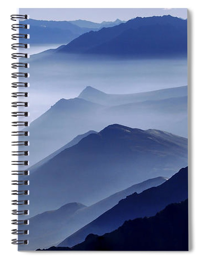 Morning Mist Spiral Notebook featuring the photograph Morning Mist by Chad Dutson