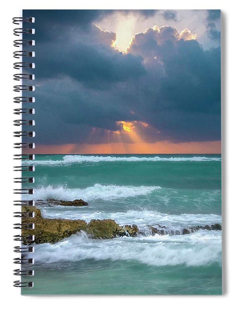Ocean Spiral Notebook featuring the photograph Morning Surf by Allin Sorenson